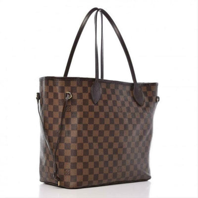 Louis Vuitton Neverfull Neo Mm Rose Ballerine Pink Brown Damier Ébène Canvas
