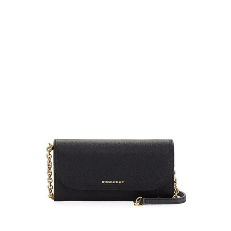 Burberry Henley Wallet-on-chain Black Leather Shoulder Bag