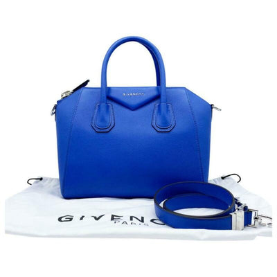 Givenchy Small Antigona Sugar Blue Leather Satchel