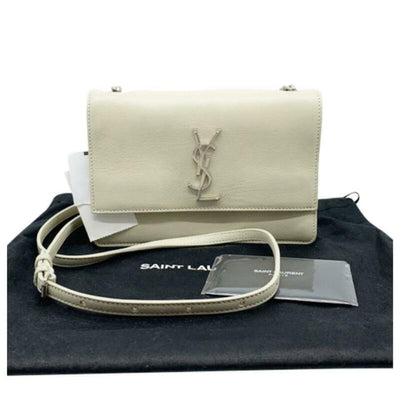 Saint Laurent Sunset Small Cremasoft Leather Shoulder Bag