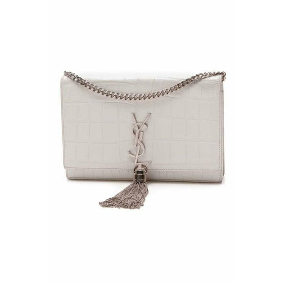 Saint Laurent Monogram Kate Chain Wallet Crocodile Calfskin Monogram Tassel