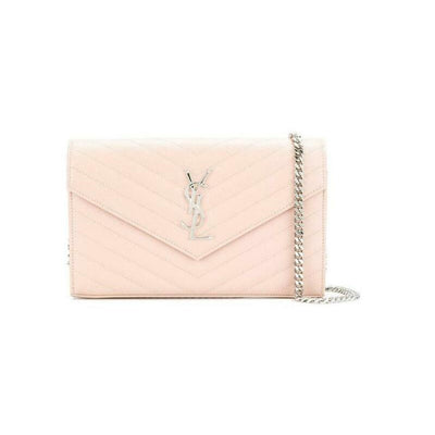 Saint Laurent Chain Wallet Medium Woc Pink Leather Cross Body Bag
