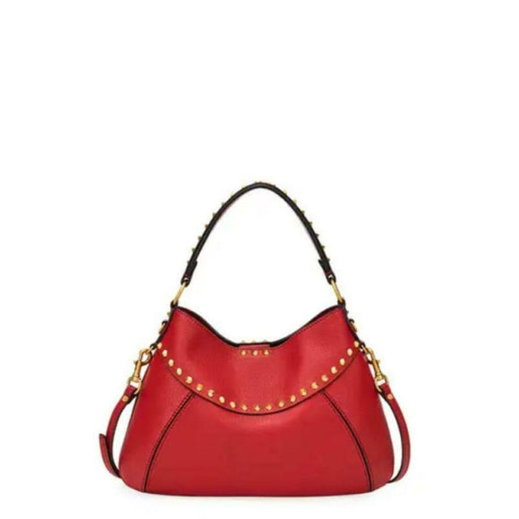 Valentino Small Twinkle Stud Rockstud Red Leather Shoulder Bag