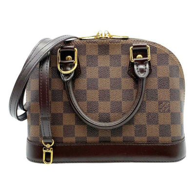 Louis Vuitton Alma Bb Brown Damier Ébène Canvas Cross Body Bag