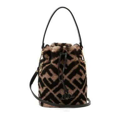 Fendi Bucket Mon Trésor Mini Leather-trimme