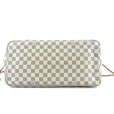 Louis Vuitton Neverfull Gm White Damier Azur Canvas Tote