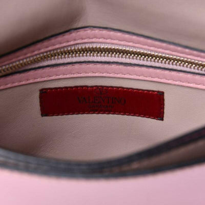 Valentino Clutch Rockstud Nappa Light Pink Leather Wristlet