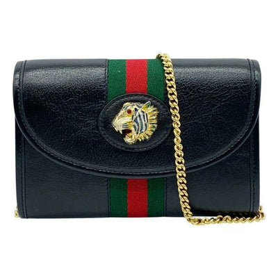Gucci Mini Rajah Black Leather Cross Body Bag