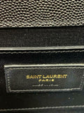 Saint Laurent Monogram Kate Grain De Poudre Classic Monogram Black Leather