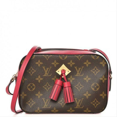 Louis Vuitton Saintonge Freesia 2018 Red Monogram Canvas and Calfskin Cross Body