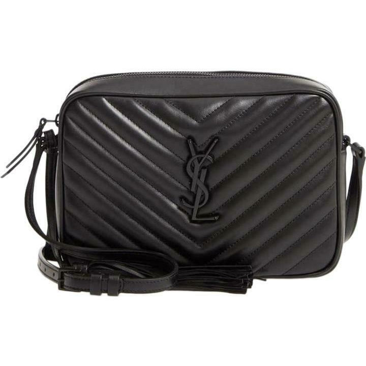 Saint Laurent Monogram Camera Lou Matelassé Black Calfskin Leather Cross Body
