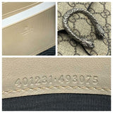 Gucci Dionysus Gg Supreme Canvas Wallet On A Chain Beige Cross Body Bag
