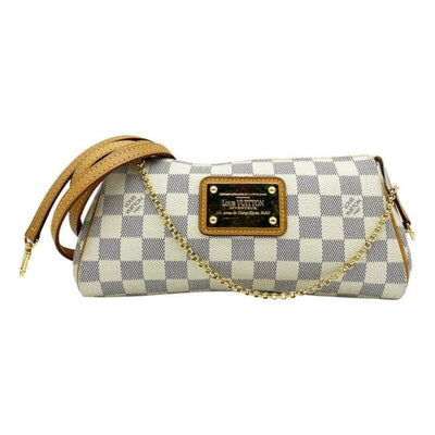 Louis Vuitton Pochette Eva White Damier Azur Canvas Cross Body Bag