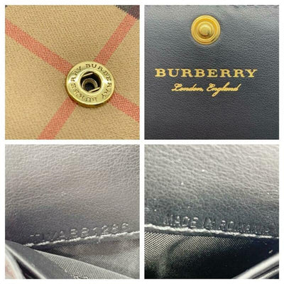 Burberry Brown Haymarket House Check Continental Wallet