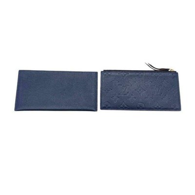 Louis Vuitton Pochette Felicie Zippered Insert and Card Holder Marine Rouge Blue