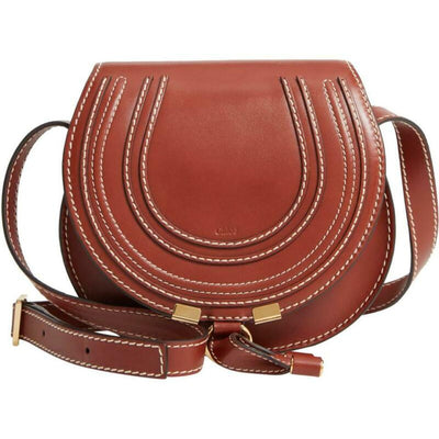 Chloé Crossbody Marcie Small Brown Leather Shoulder Bag