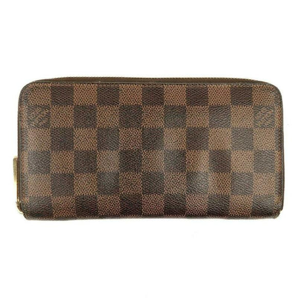 Louis Vuitton Brown Zippy Damier Ebene Wallet