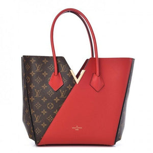 Louis Vuitton Kimono Mm Red Leather Tote Monogram Cerise Hobo 2015 Calfskin