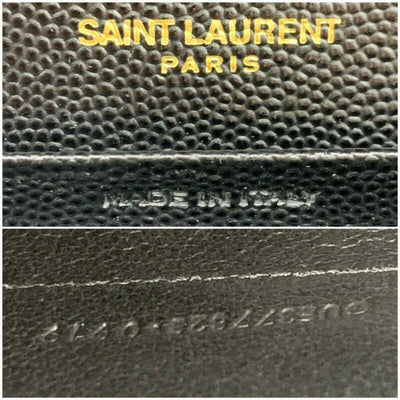 Saint Laurent Classic Chain Wallet New Monogram Medium Leather Black Calfskin