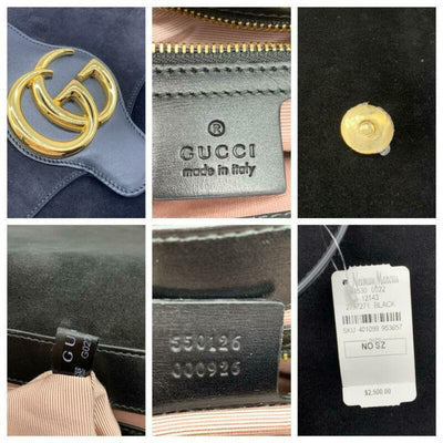 Gucci Shoulder Arli Medium Black Suede Cross Body Bag