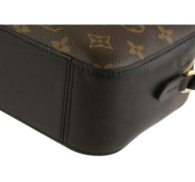 Louis Vuitton Saintonge Black Monogram Canvas Shoulder Bag