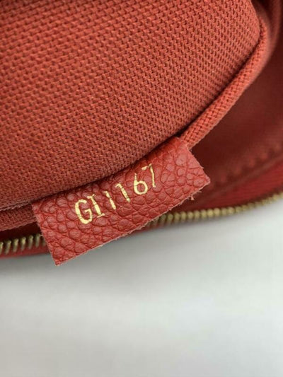Louis Vuitton Pallas Clutch Monogram Red Canvas Cross Body Bag