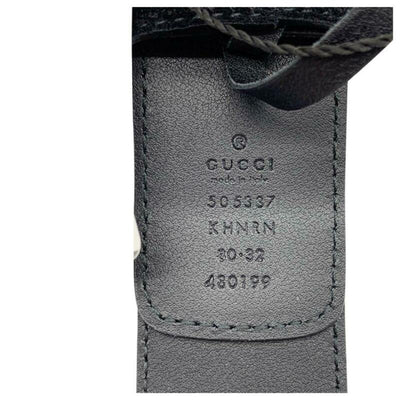 Gucci Black Dionysus Printed Coated-canvas and Suede Size 80 Belt