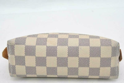 Louis Vuitton White Pouch Damier Azur Cosmetic Bag