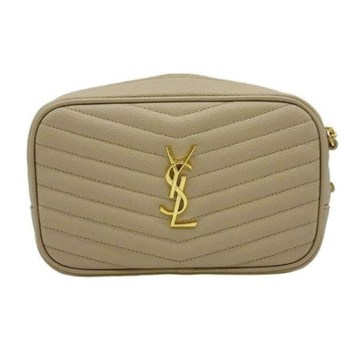 Saint Laurent Loulou Monogram Ysl Camera Beige Leather Cross Body Bag