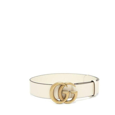 Gucci White Marmont Gg Leather 80 32 Belt