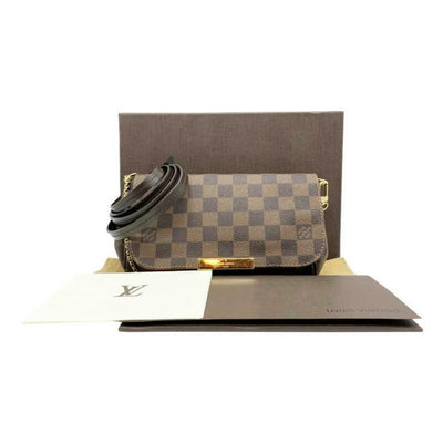 Louis Vuitton Favorite Pm Brown Damier Ébène Canvas Shoulder Bag