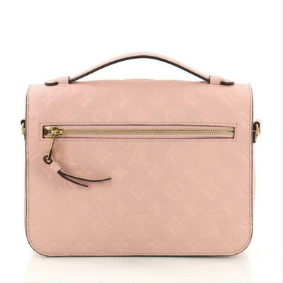 Louis Vuitton 2017 Pochette Metis Monogram Empreinte Pink Leather Cross Body Bag