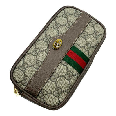 Gucci Ophidia Belt Brown Gg Supreme Canvas Cross Body Bag