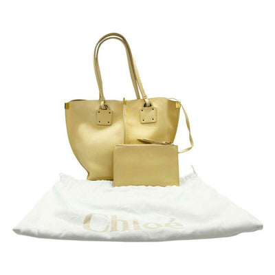 Chloé Vick Blondie Beige Leather Tote