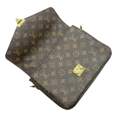Louis Vuitton Crossbody Pochette Metis Brown Monogram Canvas Shoulder Bag