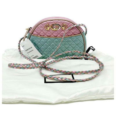 Gucci Mini Trapuntata Multicolor Leather Cross Body Bag