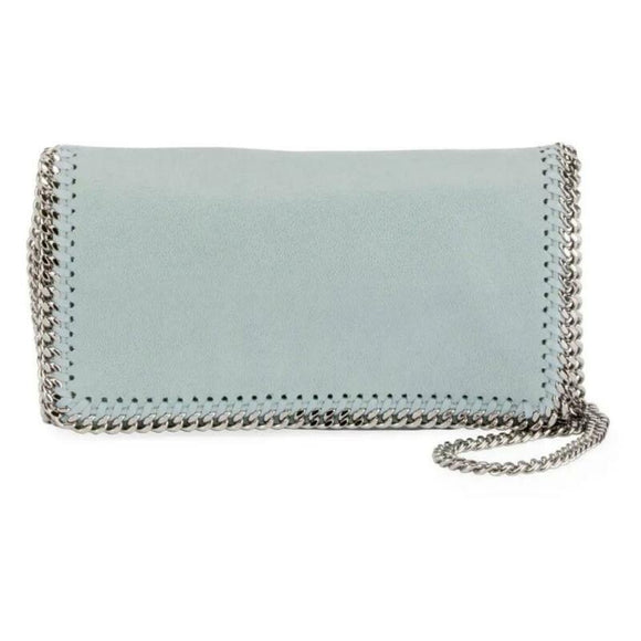 NEW Stella McCartney Falabella Sky Blue Faux Leather Cross Body Bag $1195
