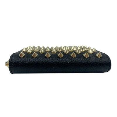Christian Louboutin Black Panettone Leather Coin Purse Wallet