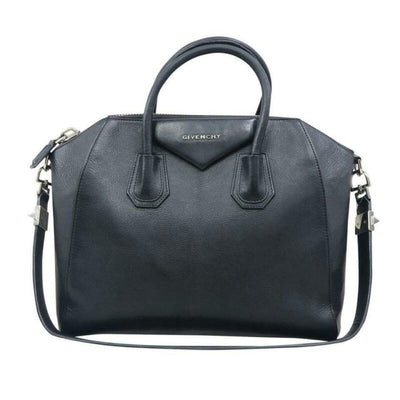 Givenchy Medium Sugar Antigona Black Leather Shoulder Bag