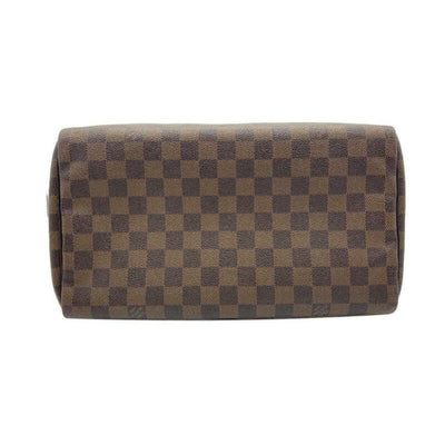 Louis Vuitton Speedy 30 Brown Damier Ébène Canvas Satchel