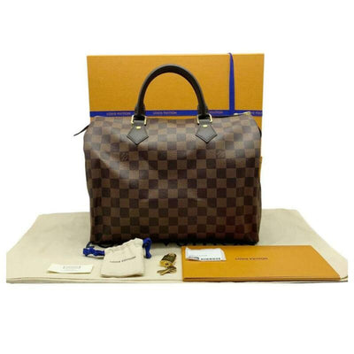 Louis Vuitton Speedy 30 Damier Ebene Brown Coated Canvas Satchel