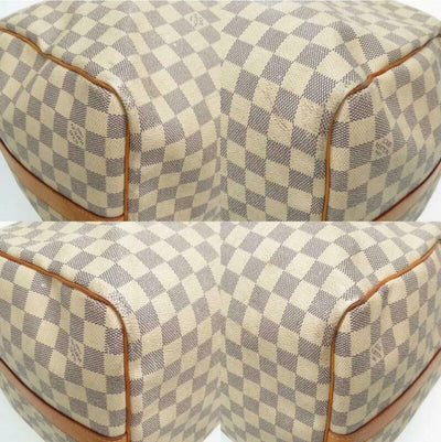 Louis Vuitton Keepall Bandouliere 55 Damier Azur White Coated Canvas Travel Bag