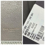 Saint Laurent Monogram Envelope Matelasse Chevron Large College Satchel Grey