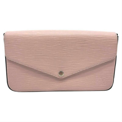 Louis Vuitton Pochette Felicie Rose Ballerine Chain Wallet Pink Epi Leather