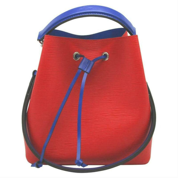Louis Vuitton NéoNoé Neo Epi Noe Blue 2017 Coquelicot Red Leather Shoulder Bag