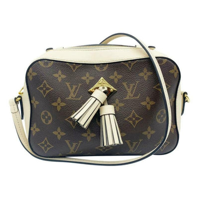 Louis Vuitton Saintonge Creme White Monogram Canvas Shoulder Bag