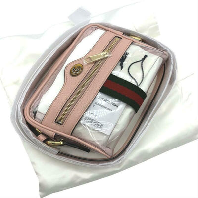 Gucci Ophidia Mini See-through Pvc Camera Pink Plastic Cross Body Bag