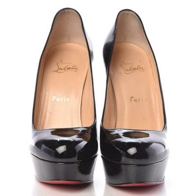 Christian Louboutin Black Patent Bianca 140 Pumps Platforms