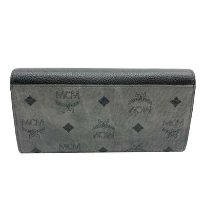 MCM Patricia Visetos Wallet On A Chain Black Leather Cross Body Bag