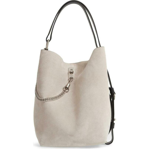 Givenchy Bucket Bag Medium Gv Calfskin Suede Beige Leather Tote